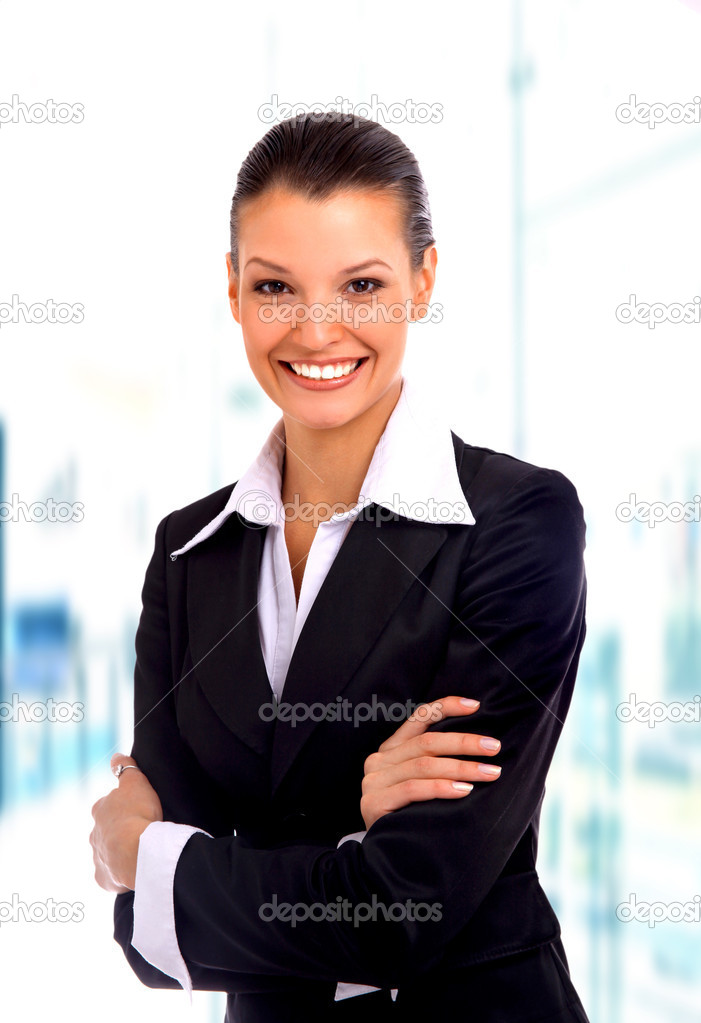 Business woman. Isolated over white background — Stock Photo #1143676