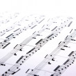 Music sheets - Stock Photo