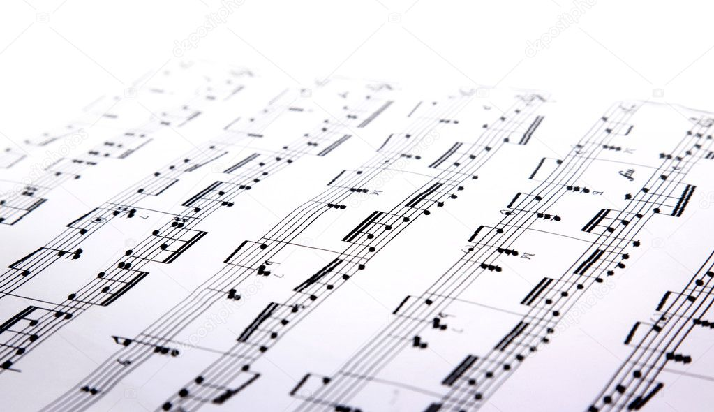 Music sheets pages macro — Stock Photo #1159432