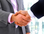 Handshake isolated — Stock Photo