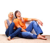 Young love smiling couple — Stock Photo