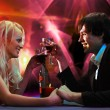 Stock Photo: Pair on nightclub