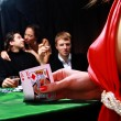 Group of sinister poker players — Foto Stock