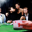 Sinister poker players - Stock Photo