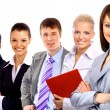 Businesswoman and his team isolated over a white background — Stock Photo #2535143