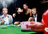 Sinister poker players — Stock Photo