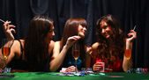 Young have a good time in casino — Stock Photo