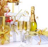 シャンパン、ギフト — ストック写真