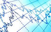 Finanční graf — Stock fotografie