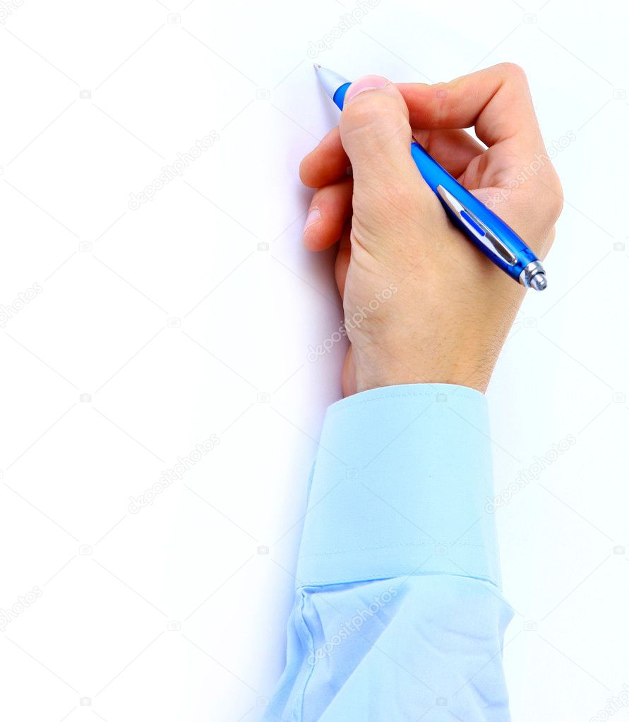 Close up of human hand with pen — Stock Photo #2532069