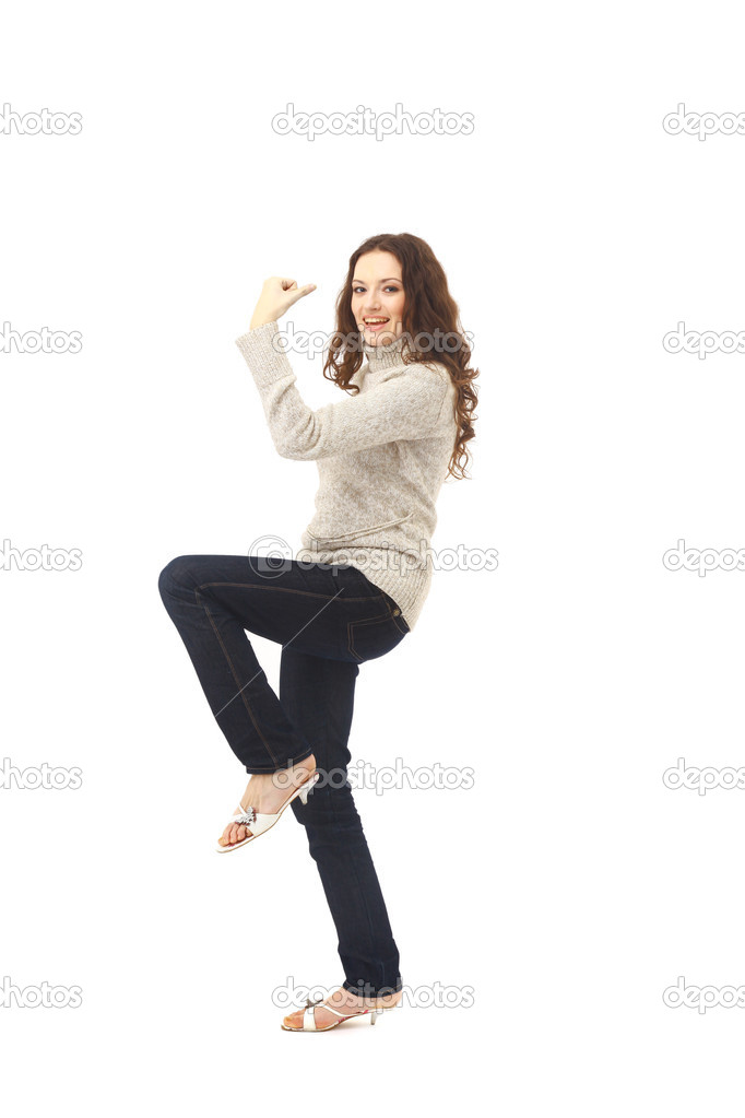 Portrait of joyous woman — Stock Photo #2536772