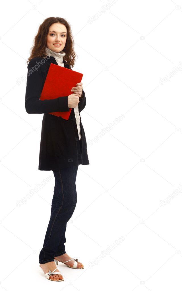 Business woman. Isolated over white background  Stock Photo #2536829