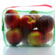 Royalty-Free Stock Photo: Peaches packed in a plastic container