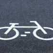 Stock Photo: Bicycle road sign