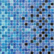 Blue colored mosaic squares — Stock Photo
