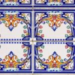 Traditional ancient ceramics. Lisbon, Po — Stock Photo