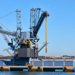 Harbor crane — Stock Photo