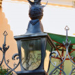 Metal street lamp at Lisbon — Stock fotografie