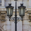 Typical metal street lamp at Lisbon — Stock Photo
