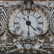 Stock Photo: Rusty old clock