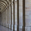 Commerce Square 18th century Arcades in — Stock Photo