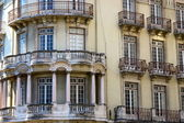 Front aspect of Lisbon town house — Stock Photo