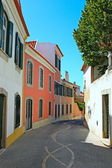 A narrow street in Lisbon, Portugal — Stock Photo