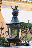 Lámpara de calle de metal en Lisboa — Foto de Stock