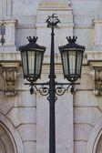 Typical metal street lamp at Lisbon — Stock Photo