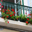 Floral balcony - Stock Photo