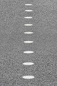 Roadside bicycle lane mark — Stock Photo