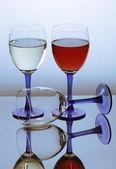 Three glass of wine — Stock Photo