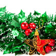Christmas decorations on white backgroun — Stock Photo #1315153