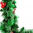 Christmas decorations on white backgroun — Stock Photo