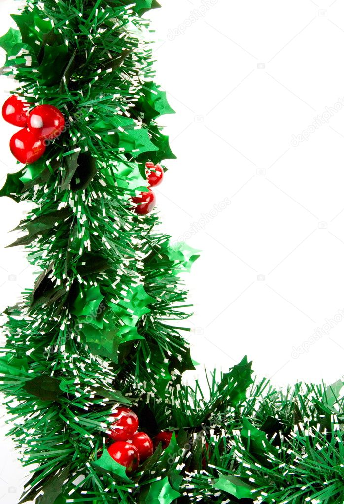 Christmas decorations on white backgroun — Stock Photo #1315154