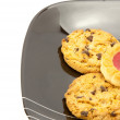 Cookies on plate — Stock Photo