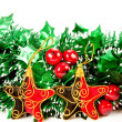 Christmas decorations on white backgroun — Stock Photo #1369757