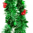 Christmas decorations on white backgroun — Stock Photo #1369787