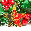 Christmas decorations on white backgroun — Stock Photo #1369892