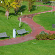 Stock Photo: Path through the landscaped park