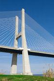 View of the Vasco da Gama bridge — Stock Photo