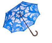 Blue umbrella opened — Foto de Stock