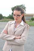 Businesswoman outdoors — Stock Photo