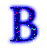 Christmas font - letter B — Stock Photo