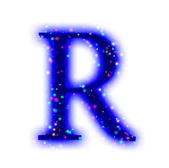 Christmas font - alphabet letter R — Stock Photo