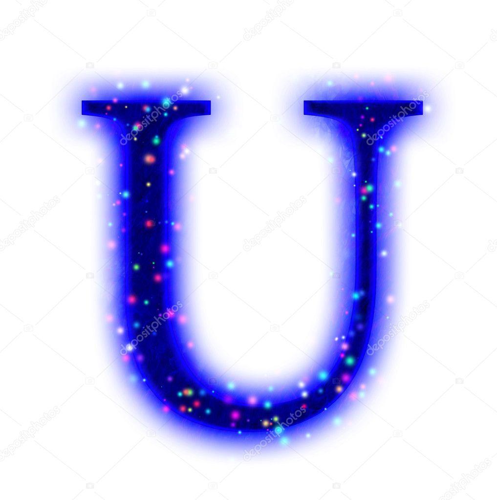 Christmas font - alpha...U Letter Design Wallpaper