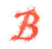 Fire alphabet - letter B — Stock Photo