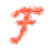 Fire alphabet - letter F — Stock Photo