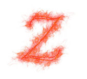 Fire alphabet - letter Z — Stock Photo
