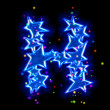 Stock Photo: Christmas star alphabet - letter H
